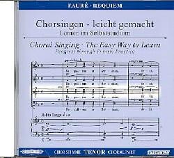 Requiem. CD Ténor FAURÉ Partition Chœur - laflutedepan
