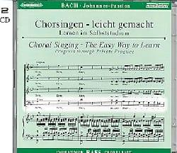 Passion Selon Saint-Jean BWV 245. CD Basse BACH Partition laflutedepan