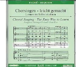 Requiem. CD Basse FAURÉ Partition Chœur - laflutedepan