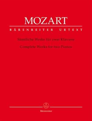 Oeuvre complète pour 2 Pianos MOZART Partition Piano - laflutedepan