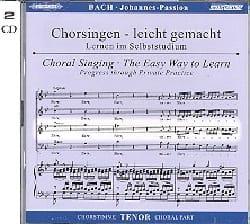 Passion Selon Saint-Jean BWV 245. CD Ténor BACH Partition laflutedepan