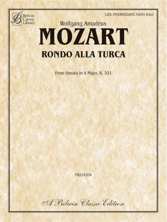 Rondo alla turca - MOZART - Partition - Piano - laflutedepan.com