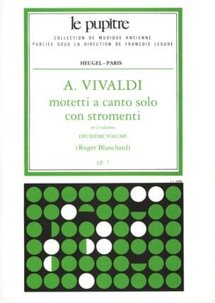 VIVALDI - Motetti A Solo Canto Con Stromenti Volume 2 - Partition - di-arezzo.co.uk