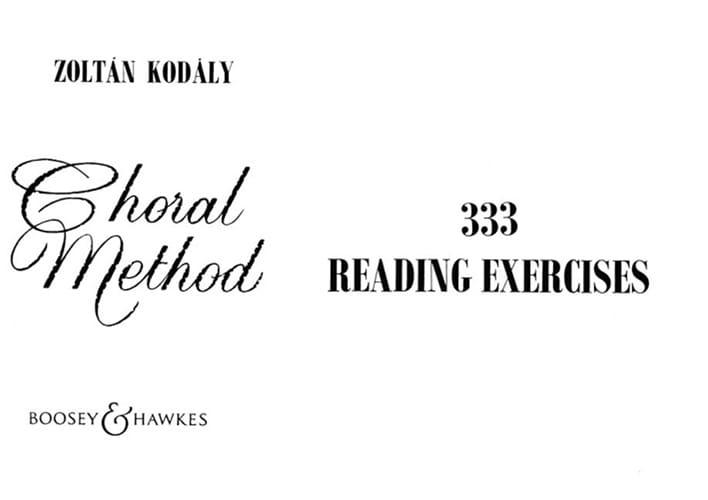 333 Reading Exercices - KODALY - Livre - Chœur - laflutedepan.com