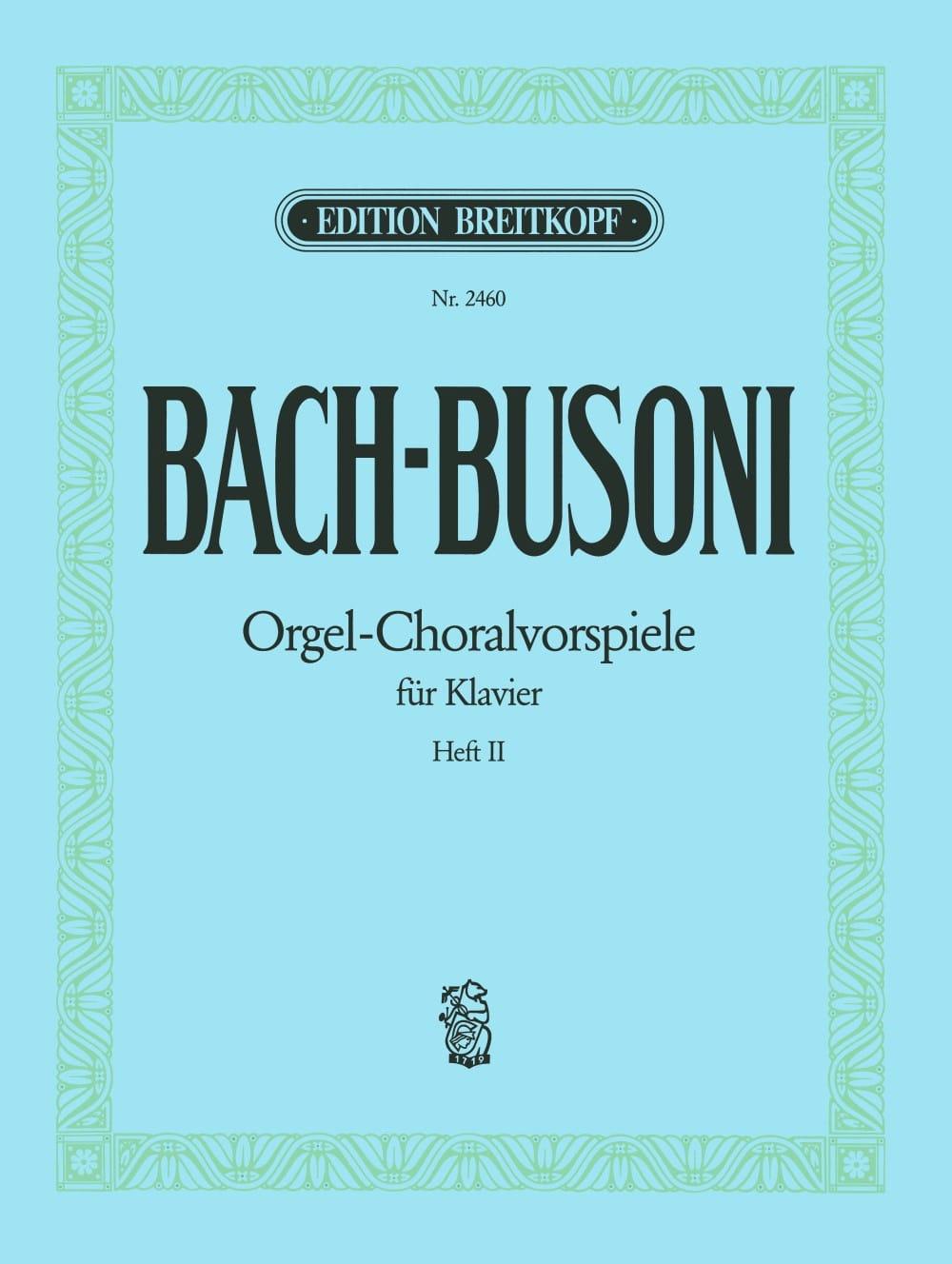 Préludes De Chorals. Volume 2 - BACH / BUSONI - laflutedepan.com