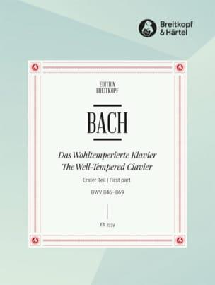 Le Clavier Bien Tempéré Volume 1 BACH Partition Piano - laflutedepan