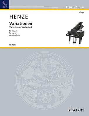 Variations, Op. 13 Hans W Henze Partition Piano - laflutedepan