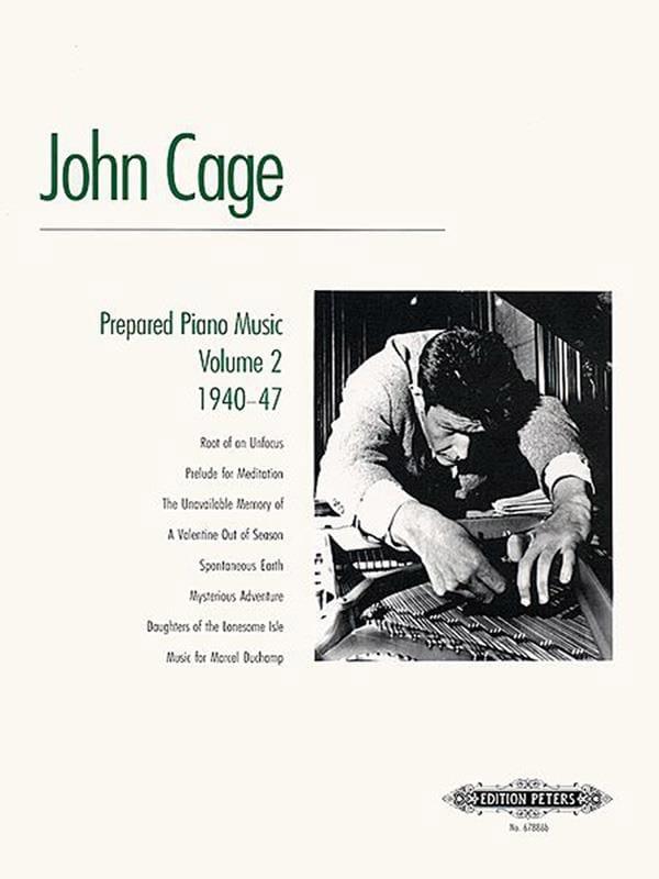 Musique Pour Piano Préparé Volume 2 - CAGE - laflutedepan.com