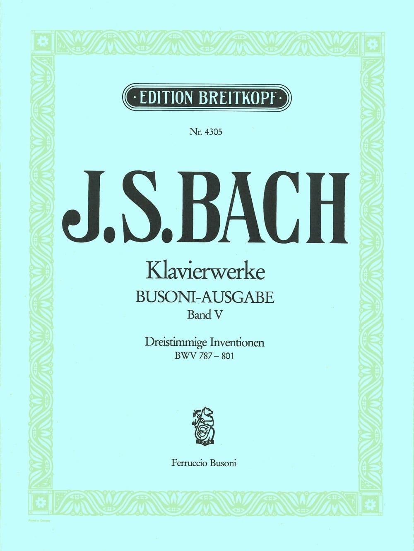 Dreistimmige Inventionen. Volume 5 - BACH / BUSONI - laflutedepan.com