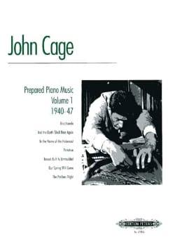 John Cage - Prepared Piano Music Volume 1 - Partition - di-arezzo.com