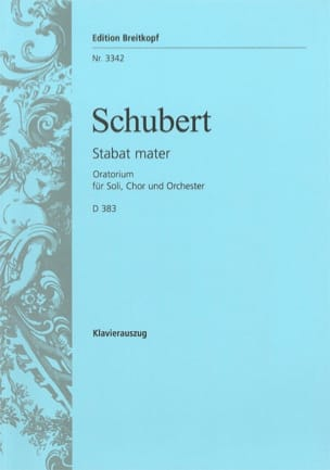 SCHUBERT - Stabat Mater Fa Minor D 383 - Partition - di-arezzo.com