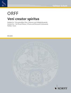 Veni Creator Spiritus ORFF Partition Chœur - laflutedepan
