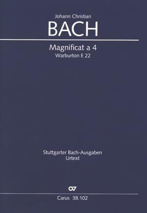 Magnificat a 4 Warb E 22 Johann Christian Bach Partition laflutedepan