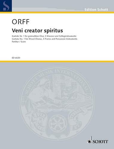 Veni Creator Spiritus - ORFF - Partition - Chœur - laflutedepan.com