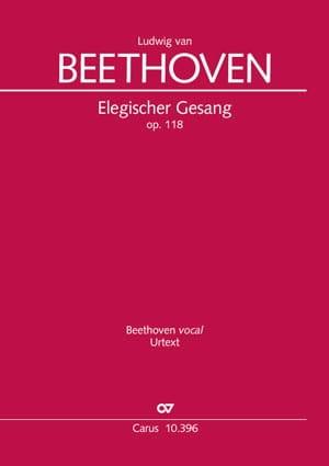 Elegischer Gesang Opus 118 - BEETHOVEN - Partition - laflutedepan.com