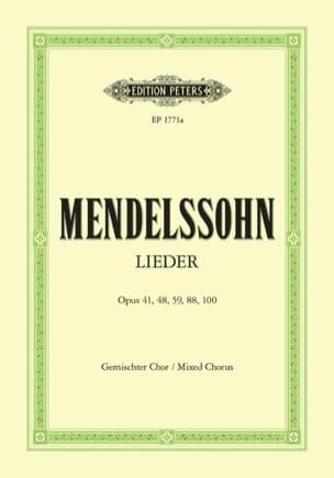 Lieder - Choeur Mixte MENDELSSOHN Partition Chœur - laflutedepan