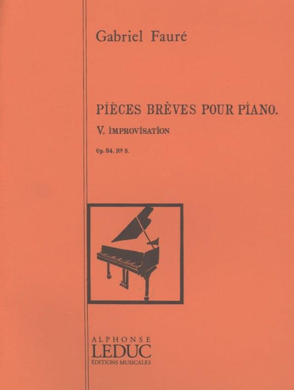 Improvisation Opus 84 - 5 - FAURÉ - Partition - laflutedepan.com