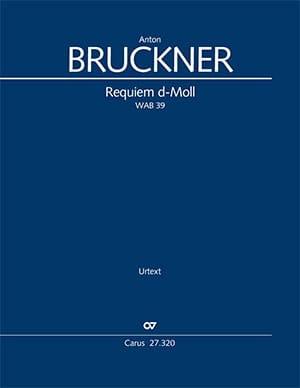 Requiem Ré mineur WAB 39 - BRUCKNER - Partition - laflutedepan.com