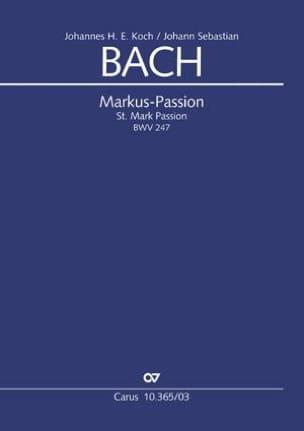 Markus-Passion BWV 247 BACH Partition Chœur - laflutedepan