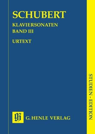 Sonates pour piano - Volume 3 SCHUBERT Partition laflutedepan