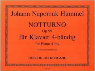 Notturno Op. 99. 4 Mains HUMMEL Partition Piano - laflutedepan