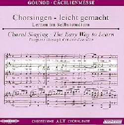 Messe Solennelle de Sainte Cécile. CD Alto CHOEUR GOUNOD laflutedepan