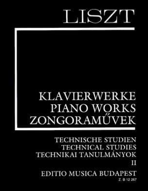 Etudes Techniques Volume 2 LISZT Partition Piano - laflutedepan