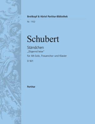 Ständchen SCHUBERT Partition Chœur - laflutedepan