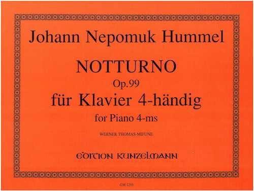 Notturno Op. 99. 4 Mains - HUMMEL - Partition - laflutedepan.com