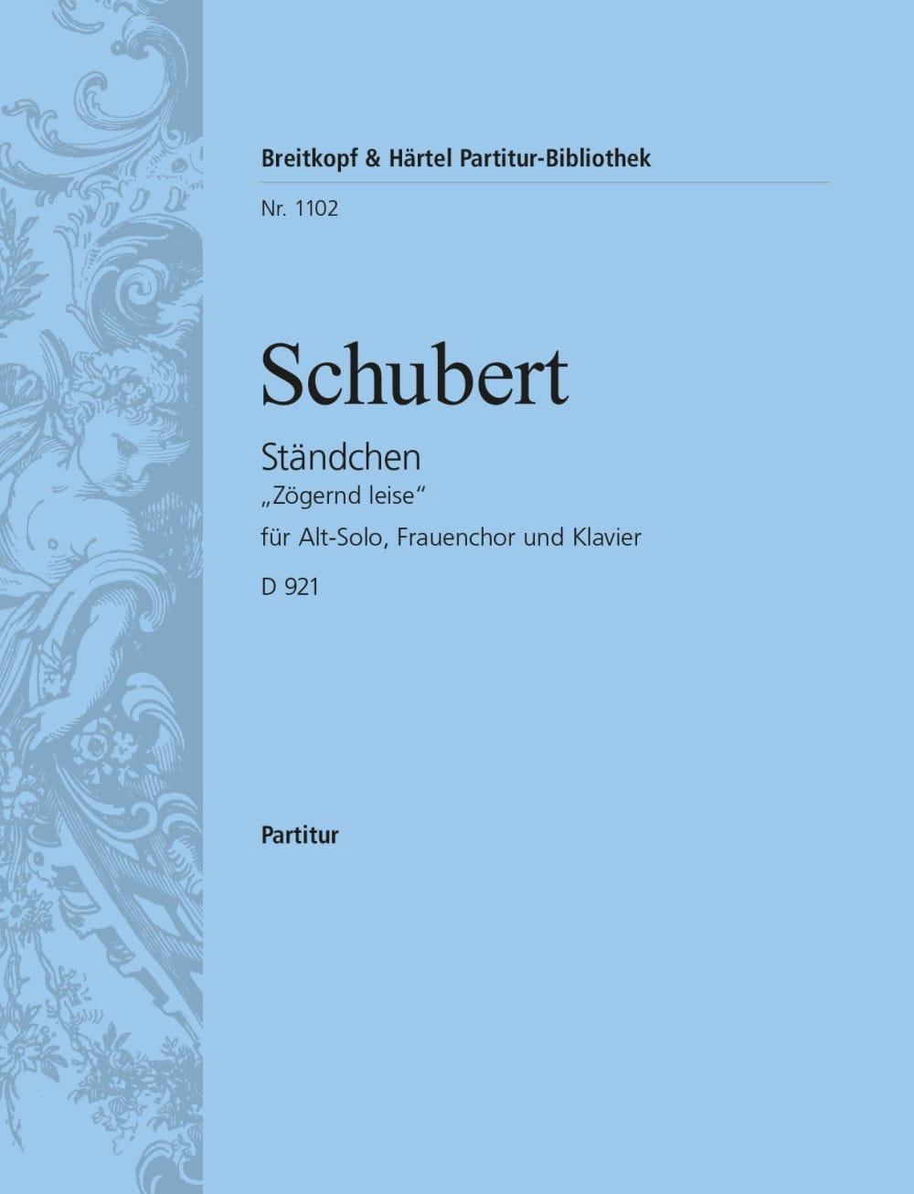 Ständchen - SCHUBERT - Partition - Chœur - laflutedepan.com