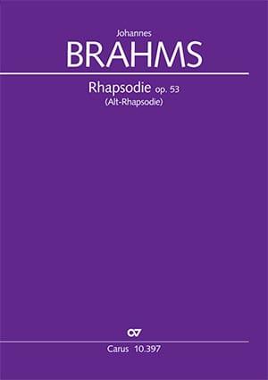 Rhapsodie fur Alto Opus 53 - BRAHMS - Partition - laflutedepan.com
