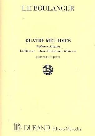 4 Mélodies Lili Boulanger Partition Mélodies - laflutedepan