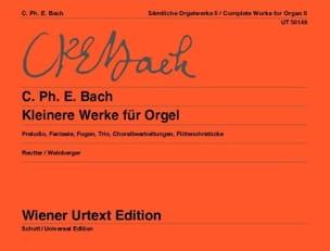 Kleinere Werke Für Orgel Carl-Philipp Emanuel Bach laflutedepan