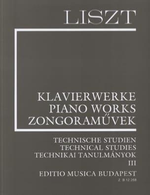 Etudes Techniques Volume 3 LISZT Partition Piano - laflutedepan