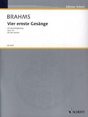 4 Ernste Gesänge Opus 121 BRAHMS Partition Mélodies - laflutedepan