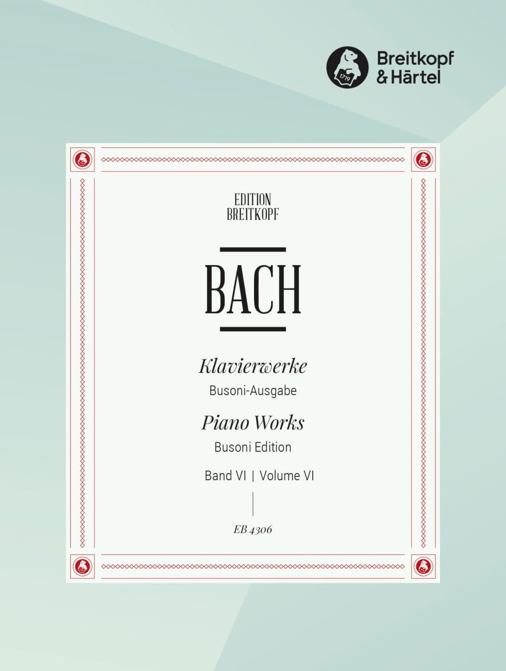 Französische Suiten. Volume 6 - BACH / BUSONI - laflutedepan.com