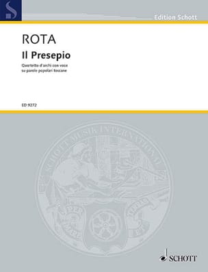 Il Presepio ROTA Partition Musique de chambre vocale - laflutedepan