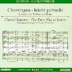 Messe Solennelle de Sainte Cécile. CD Basse CHOEUR GOUNOD laflutedepan