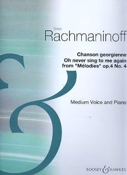 Oh never sing to me again - Op. 4 N° 4 RACHMANINOV laflutedepan