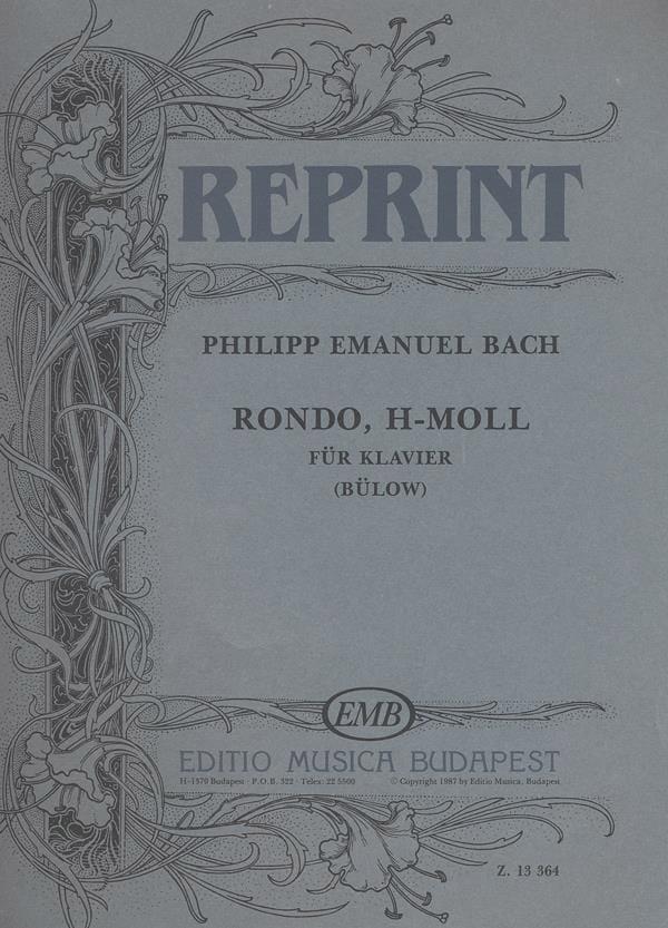 Rondo En Si Mineur - Carl-Philipp Emanuel Bach - laflutedepan.com