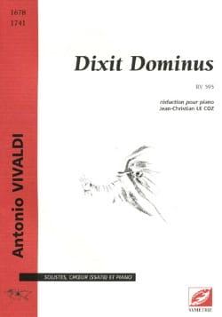 VIVALDI - Dixit Dominus Rv 595 - Partition - di-arezzo.com