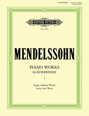 MENDELSSOHN - Lieder Ohne Worte - Partition - di-arezzo.co.uk