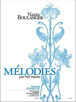 Mélodies Nadia Boulanger Partition Mélodies - laflutedepan