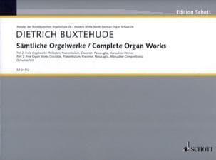 Œuvre D'orgue Complète Volume 2 BUXTEHUDE Partition laflutedepan