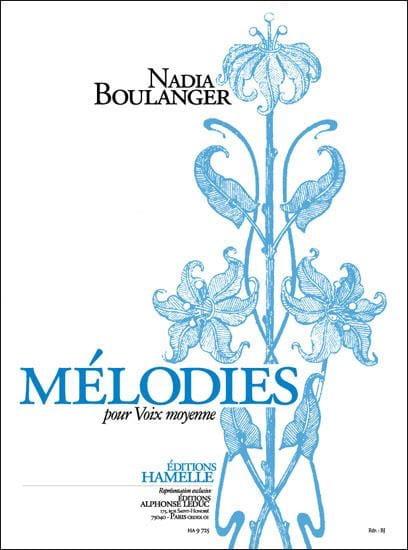 Mélodies - Nadia Boulanger - Partition - Mélodies - laflutedepan.com