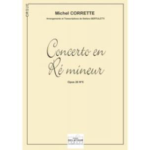 Concerto En Ré Mineur Opus 26 N° 6 - CORRETTE - laflutedepan.com