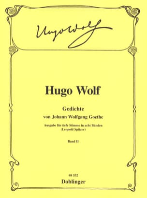 Gedichte Von Goethe. Volume 2 Voix Grave Hugo Wolf laflutedepan