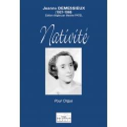 Nativité Jeanne Demessieux Partition Orgue - laflutedepan