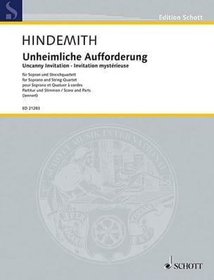 Unheimliche Aufforderung HINDEMITH Partition laflutedepan
