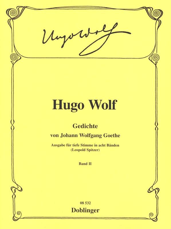 Gedichte Von Goethe. Volume 2 Voix Grave - laflutedepan.com